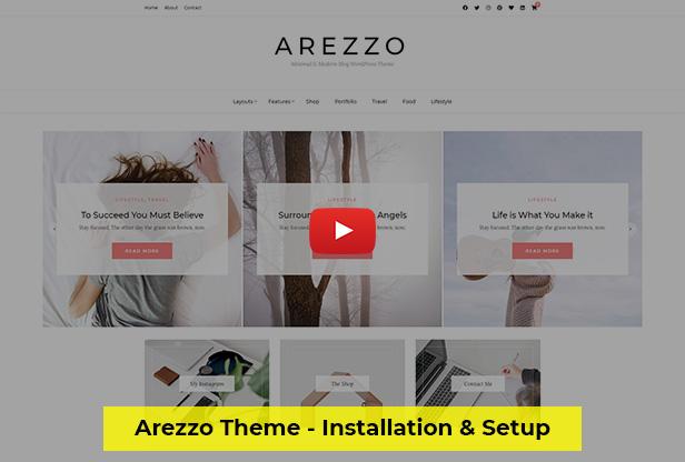 Arezzo Blog Theme for Bloggers