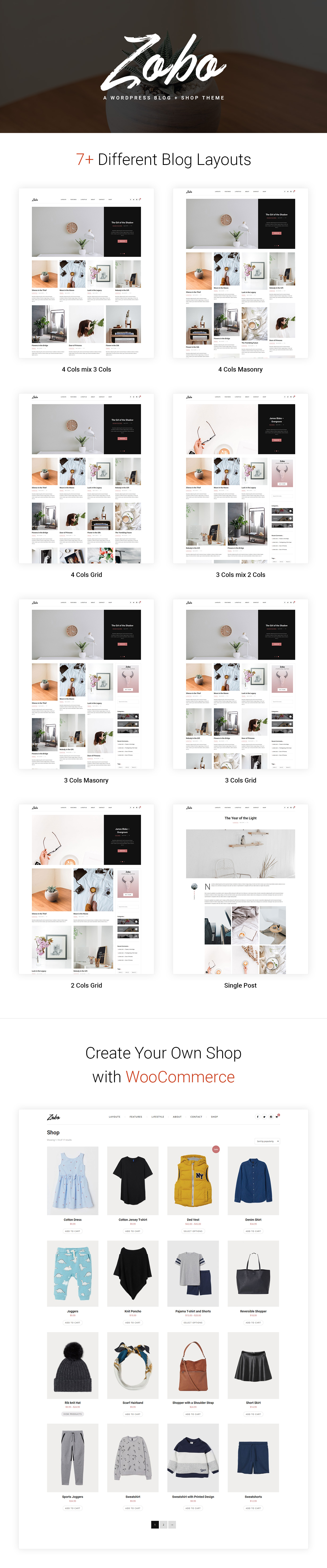 Zobo - A WordPress Blog and Shop Theme - 1
